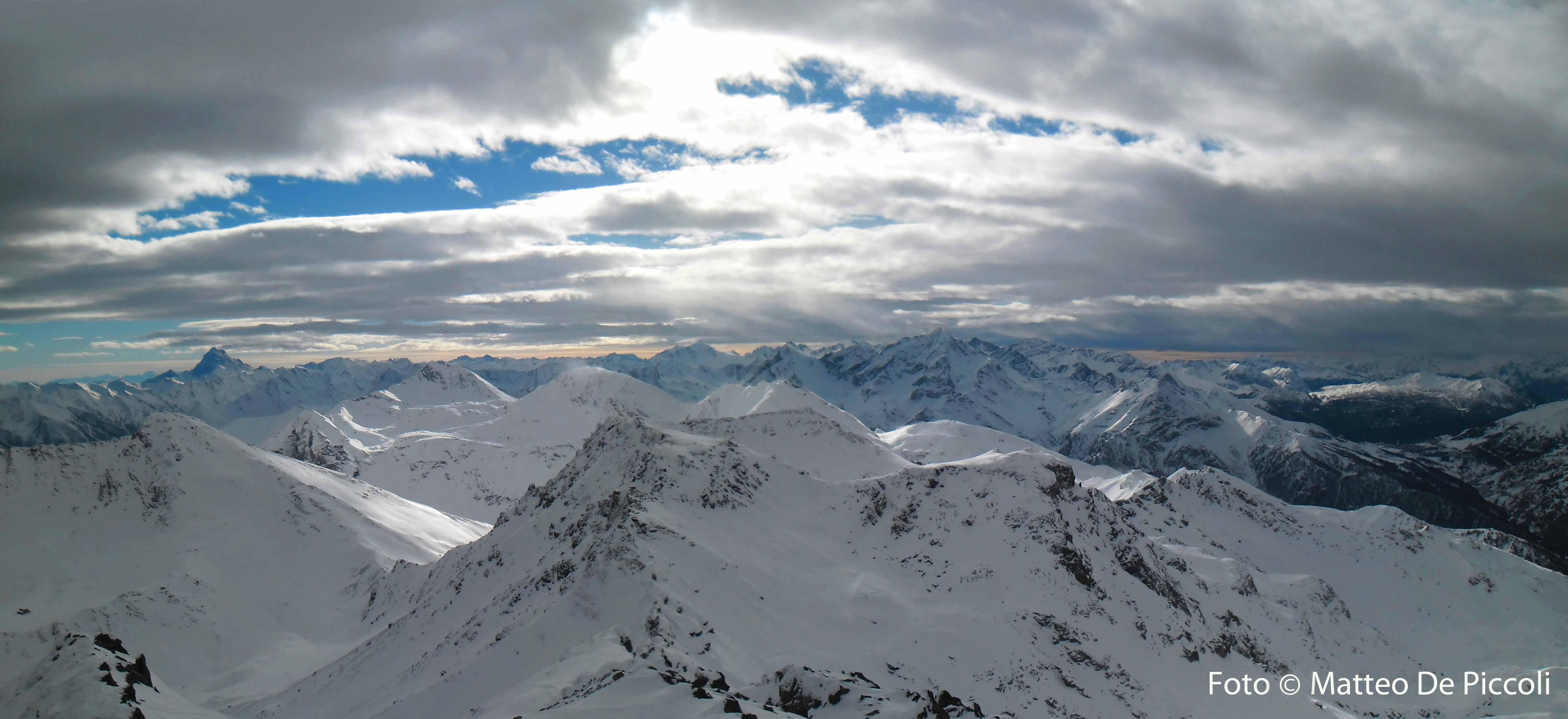 Panorama dalla vetta guardando a Sud