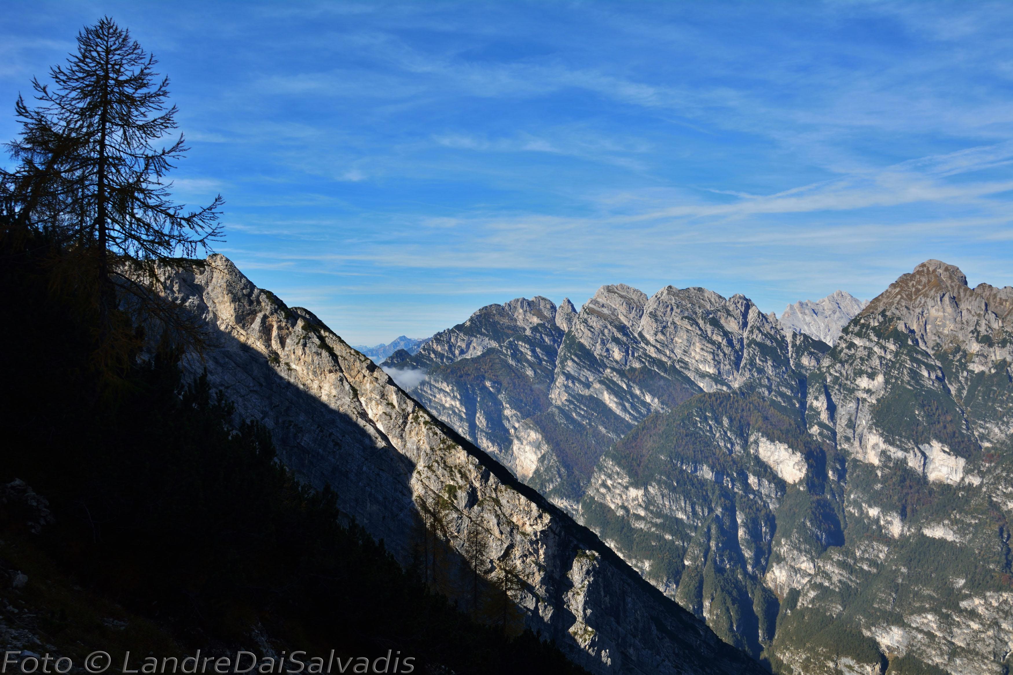 Cime Vacalizza, dei Vieres, Spalavier, Punta Susanna e Monte Turlon.