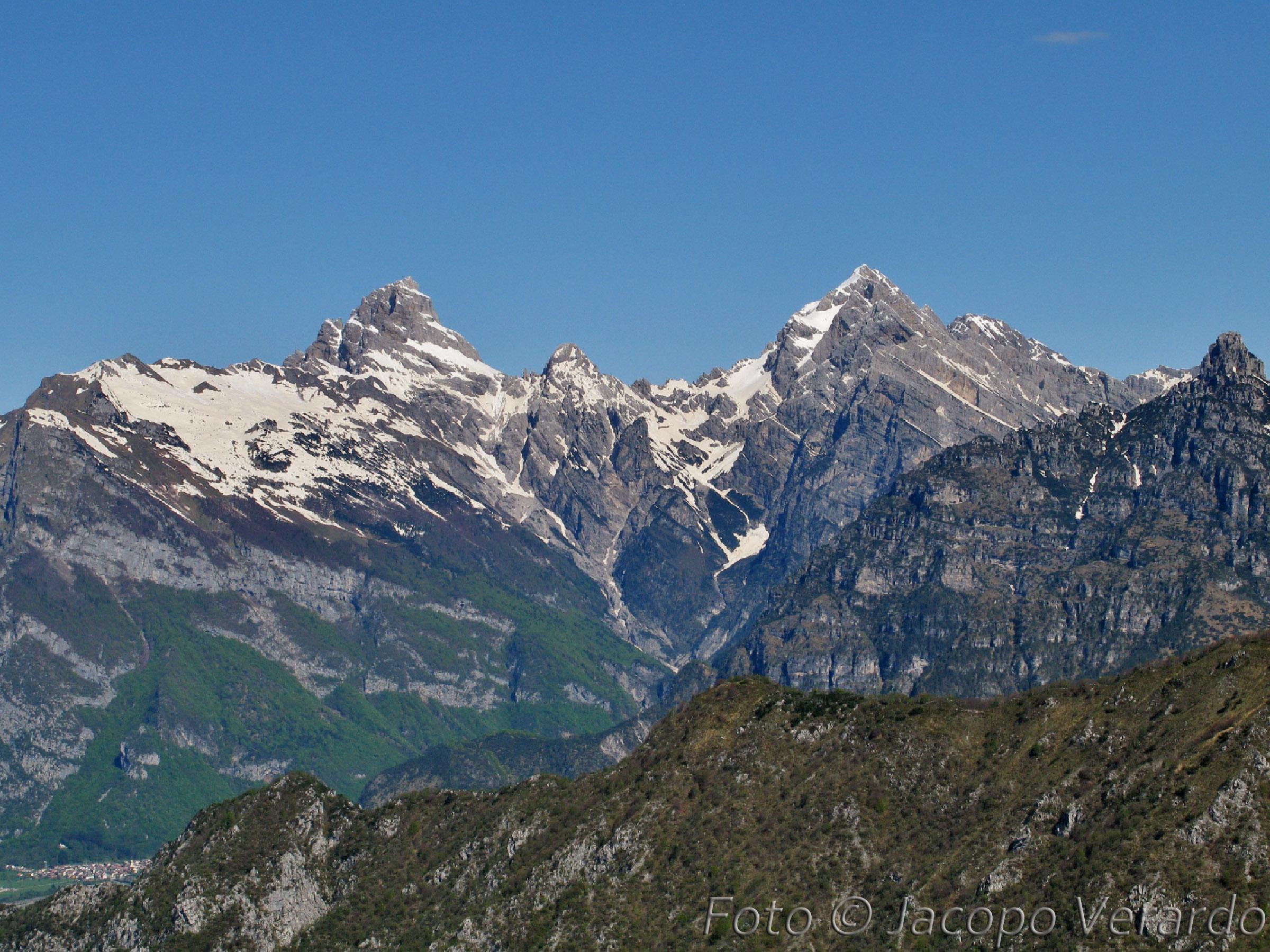 Duranno, Cima dei Frati e Cima dei Preti dal Monte Cuvil