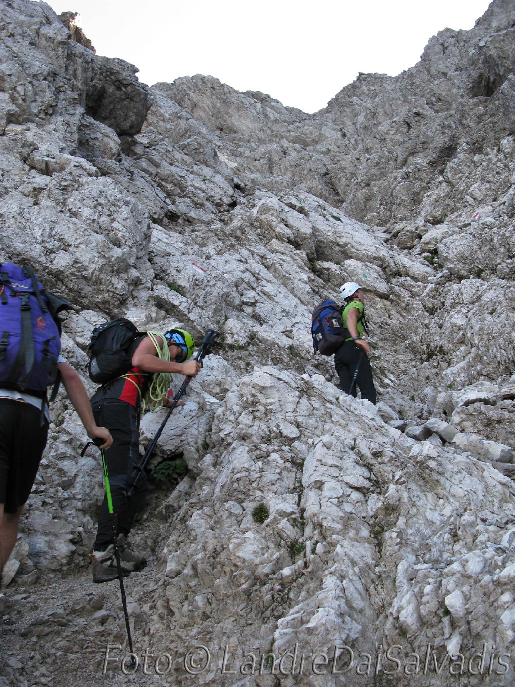 Sulle roccette sotto Forcella Duranno.