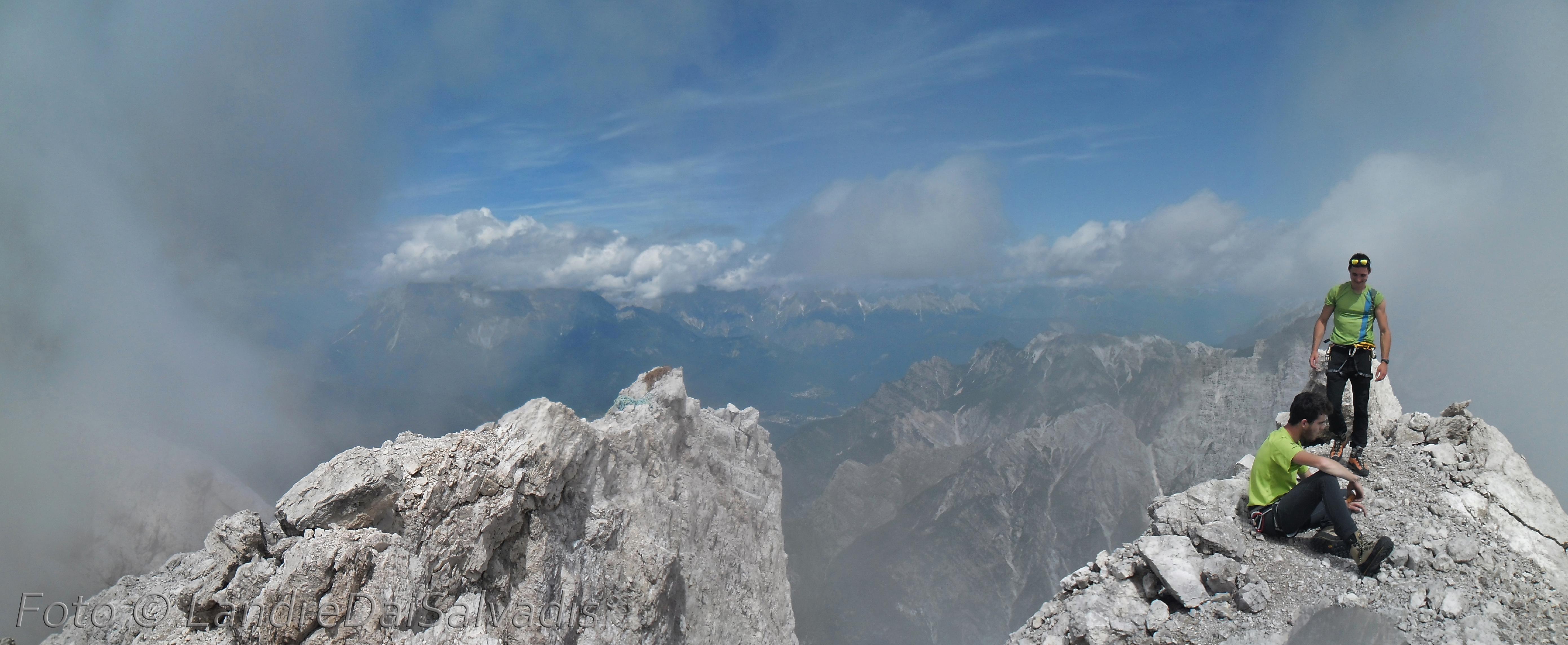 Panoramica della cima.