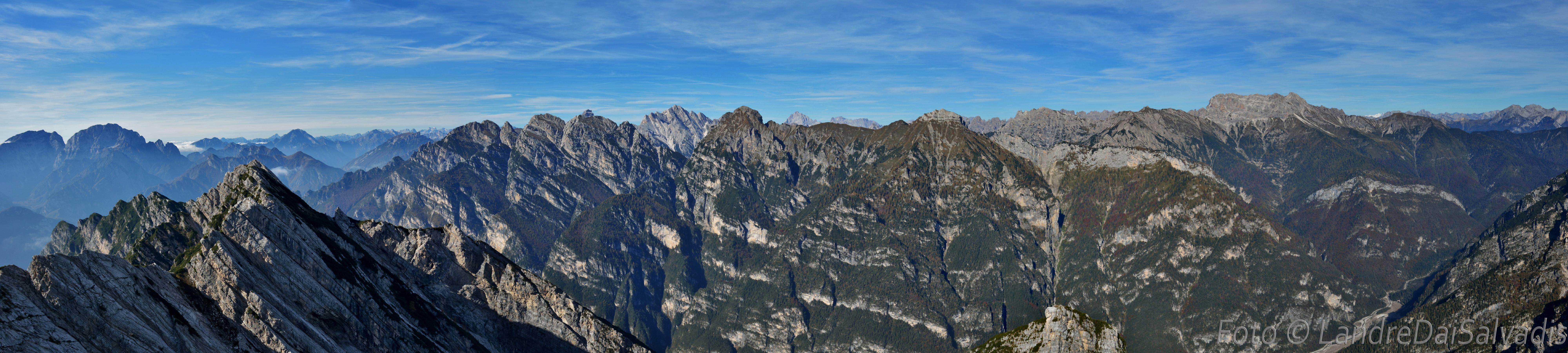 Panoramica dalla cima: da sinistra