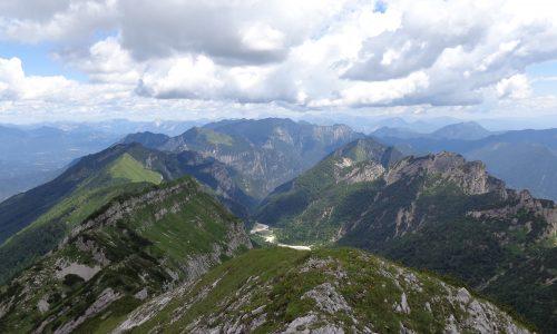 Monte Tamaruz dal Passo di Monte Rest