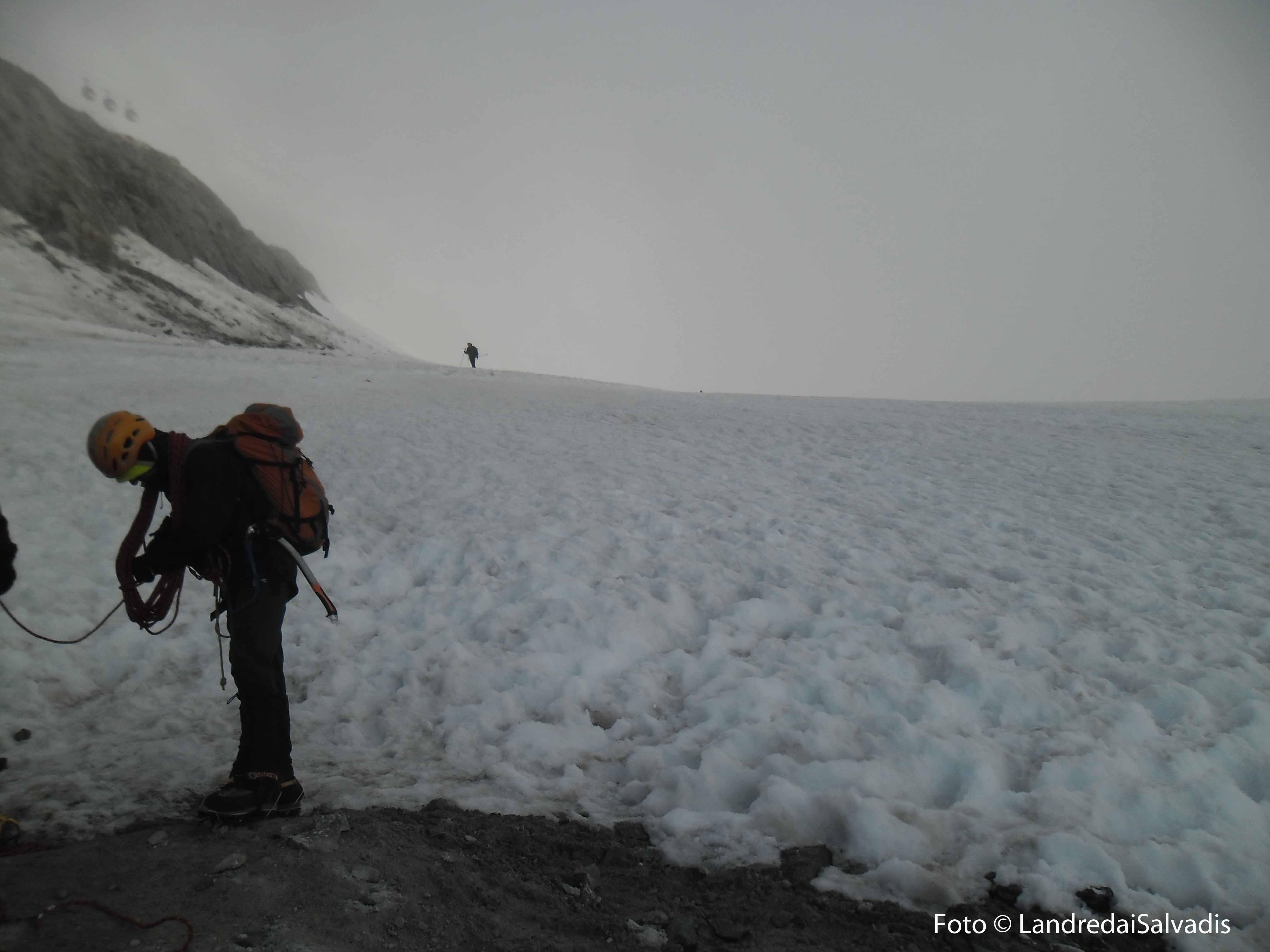 Appena giunti al ghiacciaio