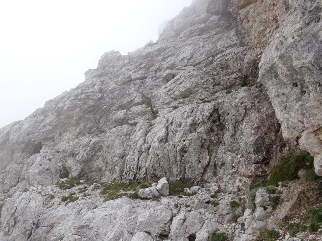 La parete da affrontare per il Sass de le Diese