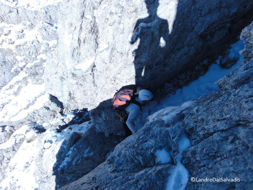 Pochi metri prima della cima