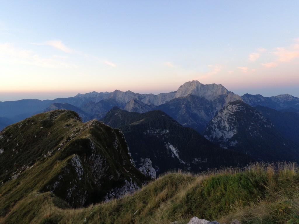 Il crinale del Monte Lodina