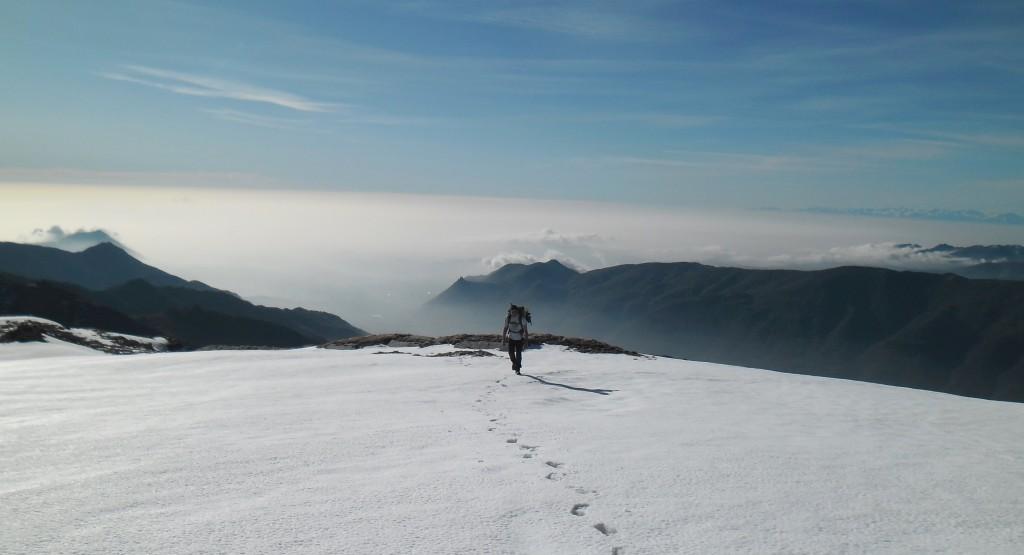 L'imbocco della Val Susa e la pianura torinese. Sacra alle spalle