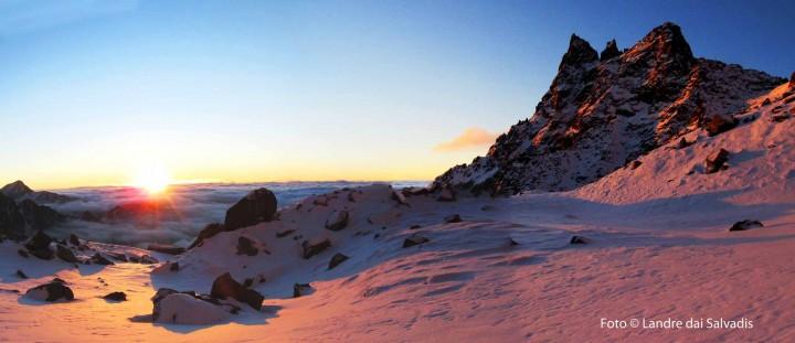 L'alba sul Becco Meridionale della Tribolazione.