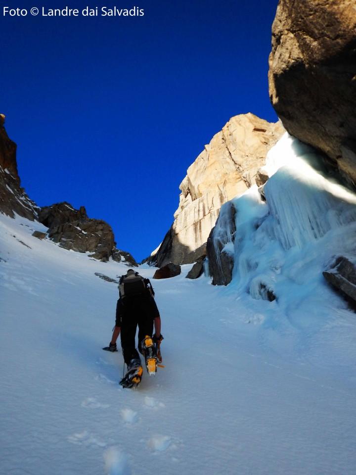 Pendenza e cascate di ghiaccio