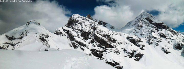 La cresta per lo Dzalou, Dome de Pra de Dieu, Becca di Luseney