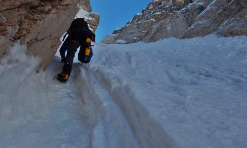 La salita perfetta: Antelao (3264 m), Canale Menini-Arnaldi