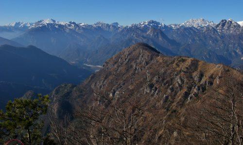 Cresta integrale Monte Brusò 1215m – Ciuc di Santins 1309m